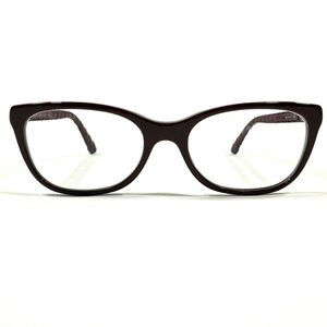 Chanel Womens Purple Cat Eye Rubber Glasses Frames